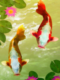 Asia Fish Koi Sea Life Art by  Wonderful Dream