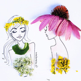 Flower Hats Stampe di Meredith Wing