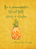 Pineapple Fruit Summer Art by  Grab My Art