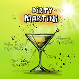 Dirty Martini Docktail Posters by  Wonderful Dream