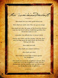 Ten Commandments Print by Dallas Drotz