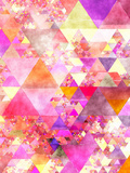 Triangles Abstract Pattern 18 Prints by  Grab My Art