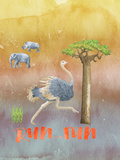 Ostrich Animal Wild Bird Posters by  Grab My Art