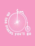 Dr Seuss Bike Pink Prints by  Indigo Sage Design