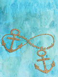 Anchors Aqua Prints by  Grab My Art
