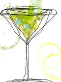 Wild Apple Martini Large Art by Jan Weiss
