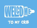 Welcome Crib Blue Prints by  Indigo Sage Design