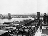Brooklyn Heights And The Brooklyn Bridge Posters by HA Dunne