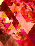 Triangles Abstract Pattern 12 Posters by  Grab My Art