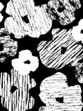 Textured Petals Black Prints by Chris Purcell