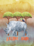 Rhinoceros Africa Animal Prints by  Grab My Art