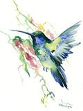 Hummingbird Indigo Giclee Print by Suren Nersisyan