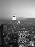 View South Of Midtown With Empire State Building At Night Prints by HA Dunne