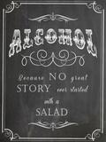 Alcohol Salad Plakat af  Indigo Sage Design