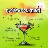 Cosmospolitan Cocktail Prints by  Wonderful Dream