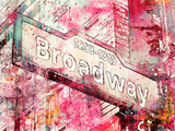 Broadway Reproduction procédé giclée par  Lebens Art