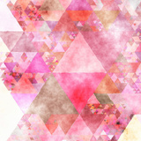 Triangles Abstract Pattern - Square 16 Prints by  Grab My Art