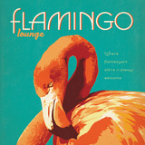Flamingo Lounge Square Prints by  Anderson Design Group