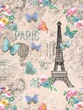 Vintage Shabby Paris 2 Poster von  Grab My Art