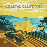 Coastal Ca Square Posters by  Anderson Design Group