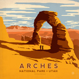 Arches Square Prints by  Anderson Design Group