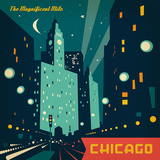 Chicago Mag Mile Square Posters by  Anderson Design Group