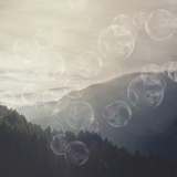 Forrest Mystic Bubble - Square Poster by  Lebens Art