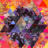 Triangles Abstract Pattern - Square 6 Prints by  Grab My Art
