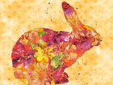 Bunny Prints by  Lebens Art