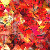 Triangles Abstract Pattern - Square 29 Prints by  Grab My Art