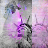 Statue Of Liberty - Square Posters by  Lebens Art