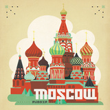 Moscow Poster by  Anderson Design Group