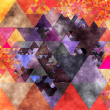 Triangles Abstract Pattern - Square 14 Posters by  Grab My Art