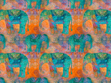 Elephants 2 Poster by  Lebens Art