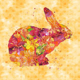 Bunny - Square Print by  Lebens Art