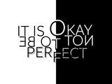 It Is Okay Not To Be Perfect Arte di Melanie Viola