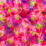 Triangles Abstract Pattern - Square 22 Prints by  Grab My Art