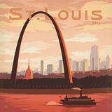 St Louis Square Prints by  Anderson Design Group