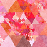 Triangles Abstract Pattern - Square 23 Poster by  Grab My Art