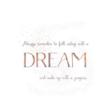 Dream Vintage Typography White Art by  Grab My Art