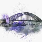 Sydney Harbor Bridge - Square Posters by  Lebens Art