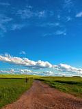 Trail Fields Summer Sky Landscape Prints by  Grab My Art