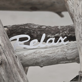 Relax At The Beach - Square Posters by  Lebens Art