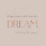 Dream Vintage Typography Poster by  Grab My Art