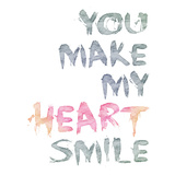 You Make Me Heartbeat 3 - Square Poster by  Lebens Art