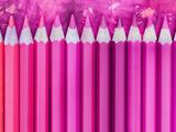 Pink Pencils 2 Prints by  Lebens Art