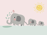Elephant Art by  Nanamia Design