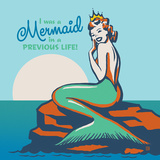 Mermaid In A Previous Life Square Posters by  Anderson Design Group