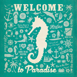 Adg-Seahorse Pattern Poster by  Anderson Design Group