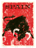 Spain - Spanish Bull Fighting Print by  Pacifica Island Art